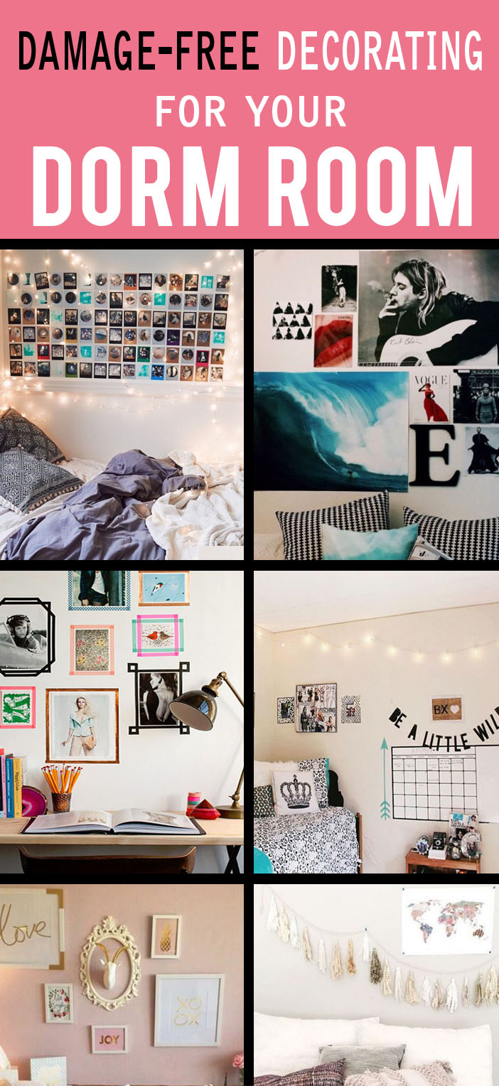 How to decorate your dorm walls without causing damage for How to make creative things for your room