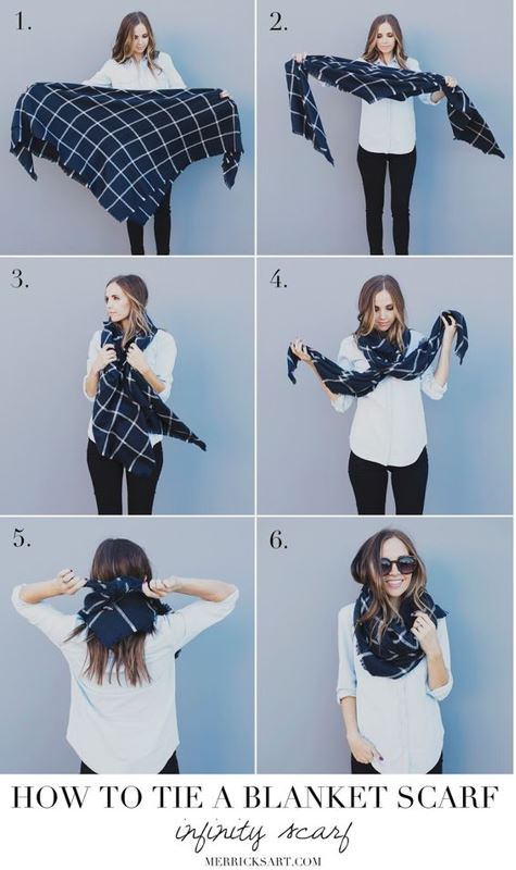 20 Ways To Wear A Blanket Scarf Society19