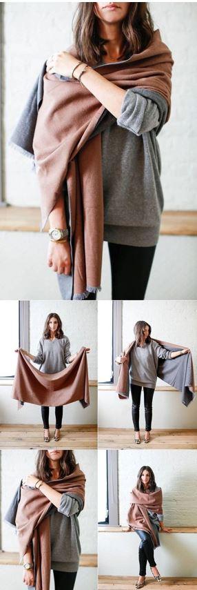 20 Ways To Wear A Blanket Scarf Society19